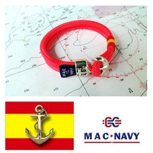 Pulsera náutica y bandera española con ancla