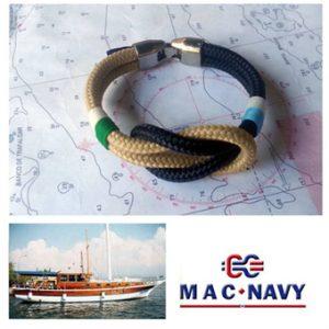Pulseras marineras de driza náuticas dos colores