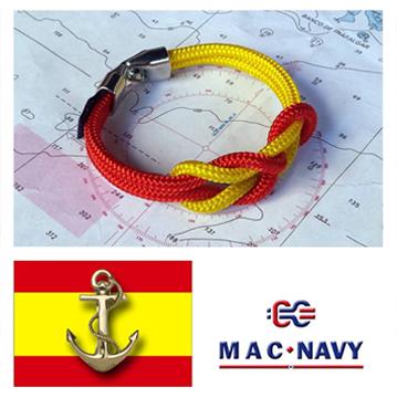Pulseras náuticas colores bandera Española