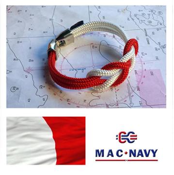 Pulseras náuticas de driza roja