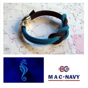 Pulseras marineras de driza azul y negro