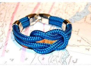 Pulseras náuticas driza azul