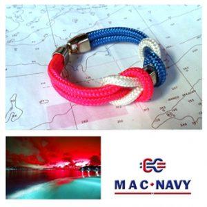 Pulseras de marinero de driza rosa