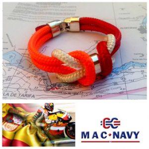 Pulseras de marinero hechas de driza