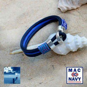Pulseras náuticas de driza Cyan y Azul