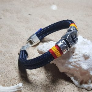 Pulseras náuticas bandera Española y driza Azul