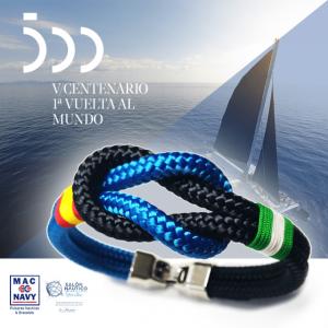 pulsera náutica oficial V centenario de la primera vuelta al mundo Magallanes Elcano